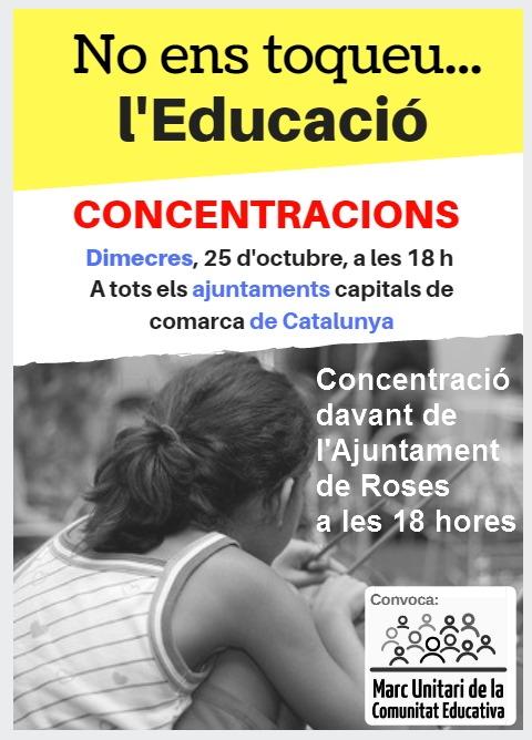 Roses es concentrarà en defensa de l'escola catalana