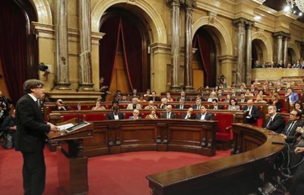 Compareixença del president Puigdemont davant del ple del Parlament