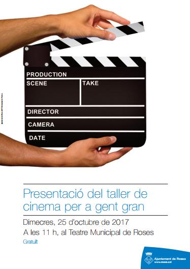 Sessió informativa del Taller de Cinema per a gent gran