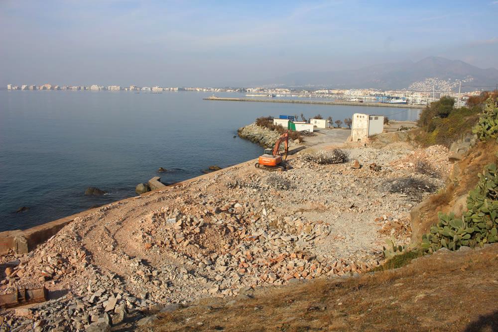 L'enderroc i condicionament de la depuradora de marisc finalitzarà al gener