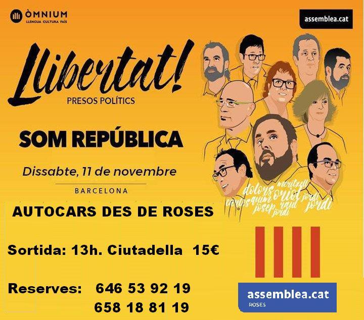 Autocars per anar a Barcelona l'11N