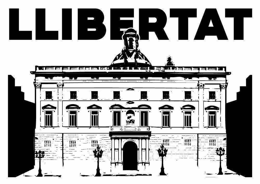 Concentració en defensa del govern de la Generalitat