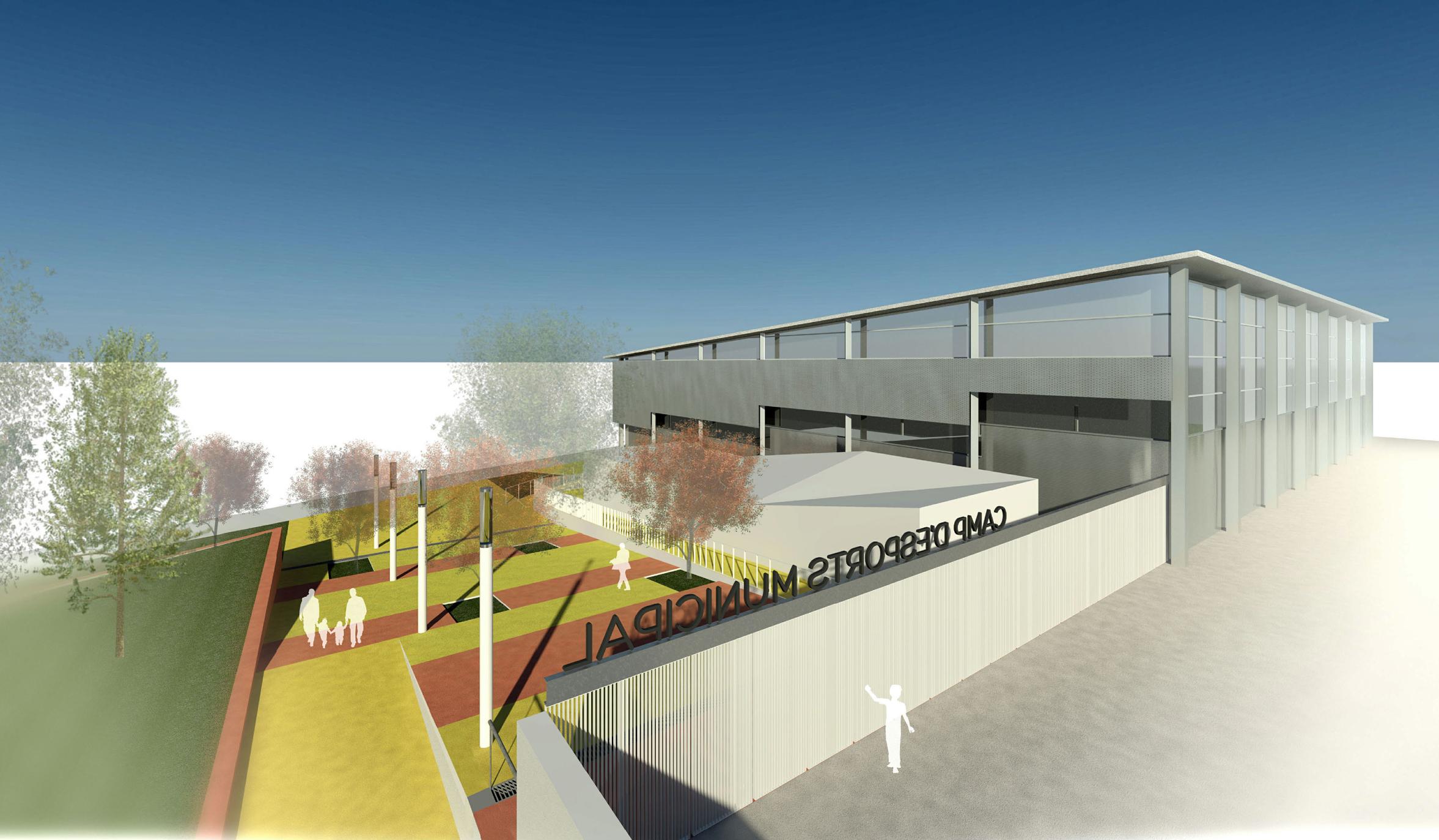Nou edifici de serveis a la Pista Poliesportiva de Roses per millorar els usos i accessos de la zona esportiva