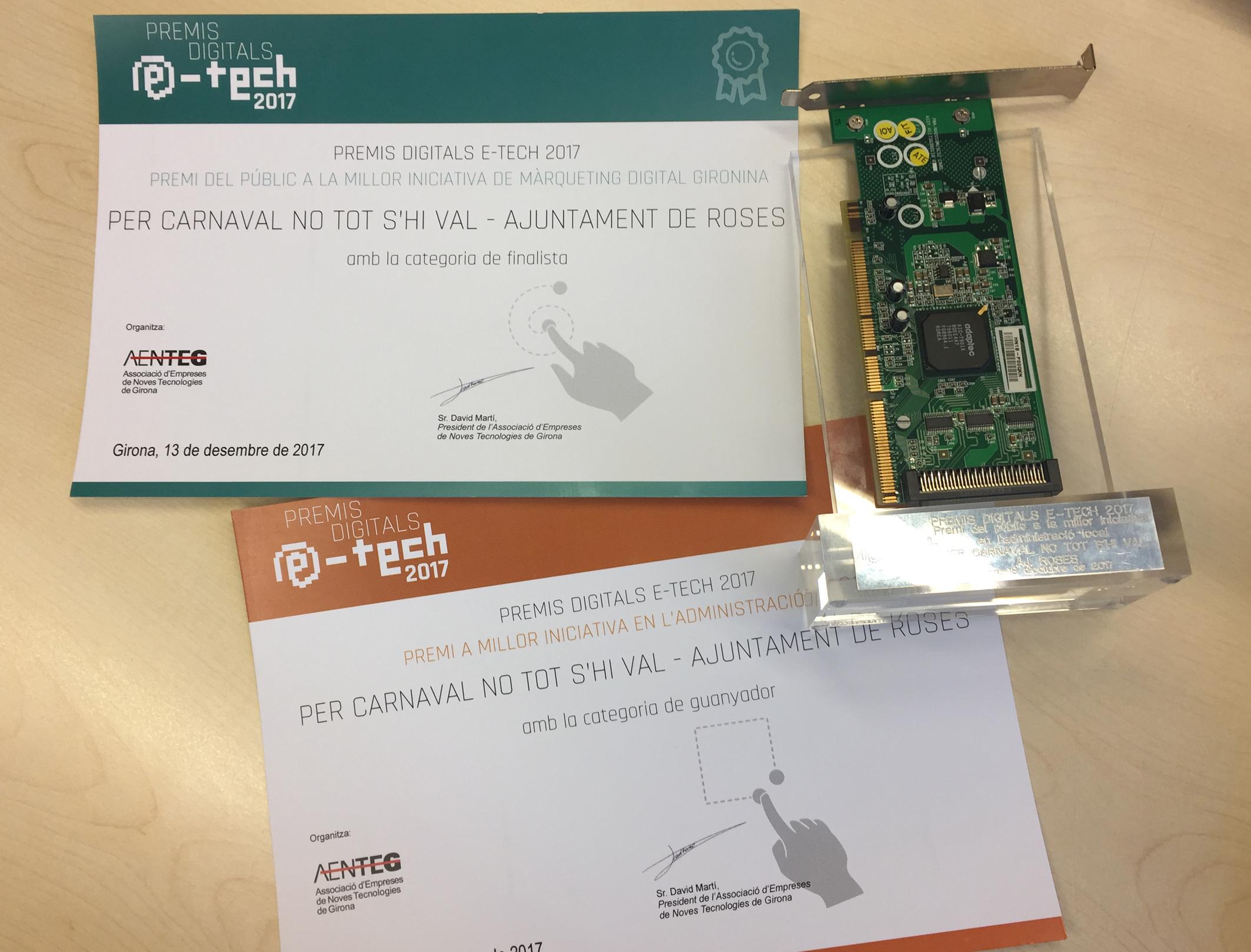 """La campanya """"Per Carnaval No Tot s'hi Val"""" guanya dos premis digitals E-TECH 2017"""