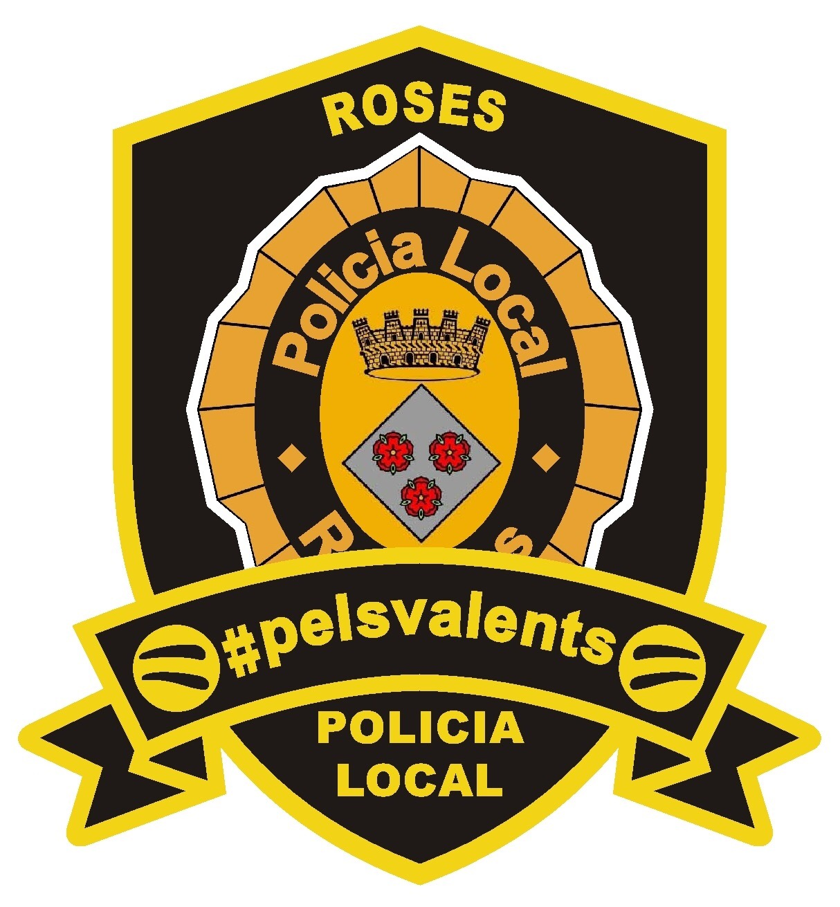 """La Policia Local de Roses s'adhereix a la campanya """"Escuts Solidaris"""" per lluitar contra el càncer infantil"""
