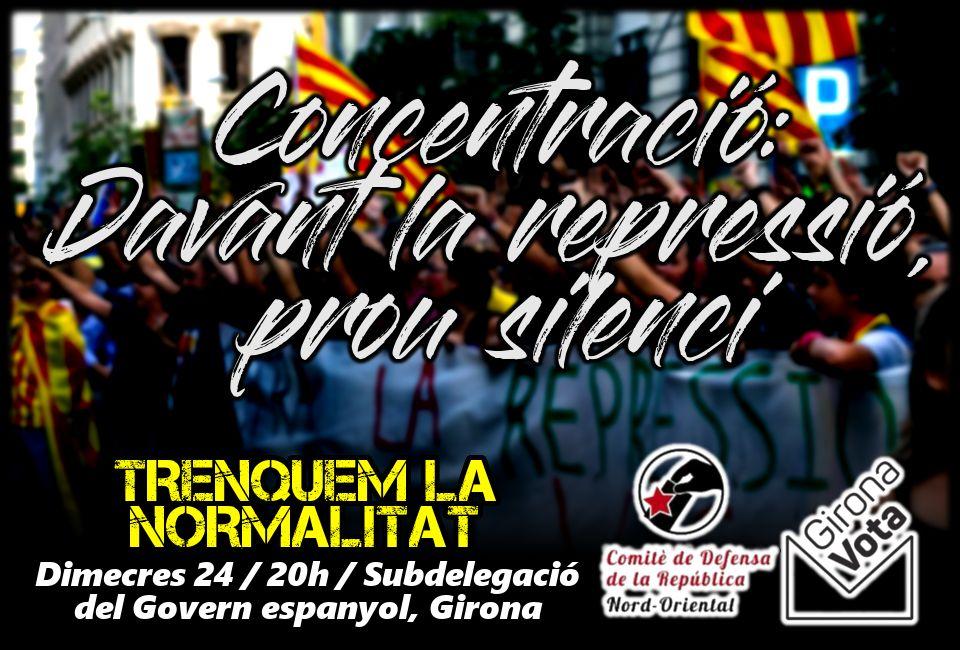 Concentració de Rebuig avui a Girona