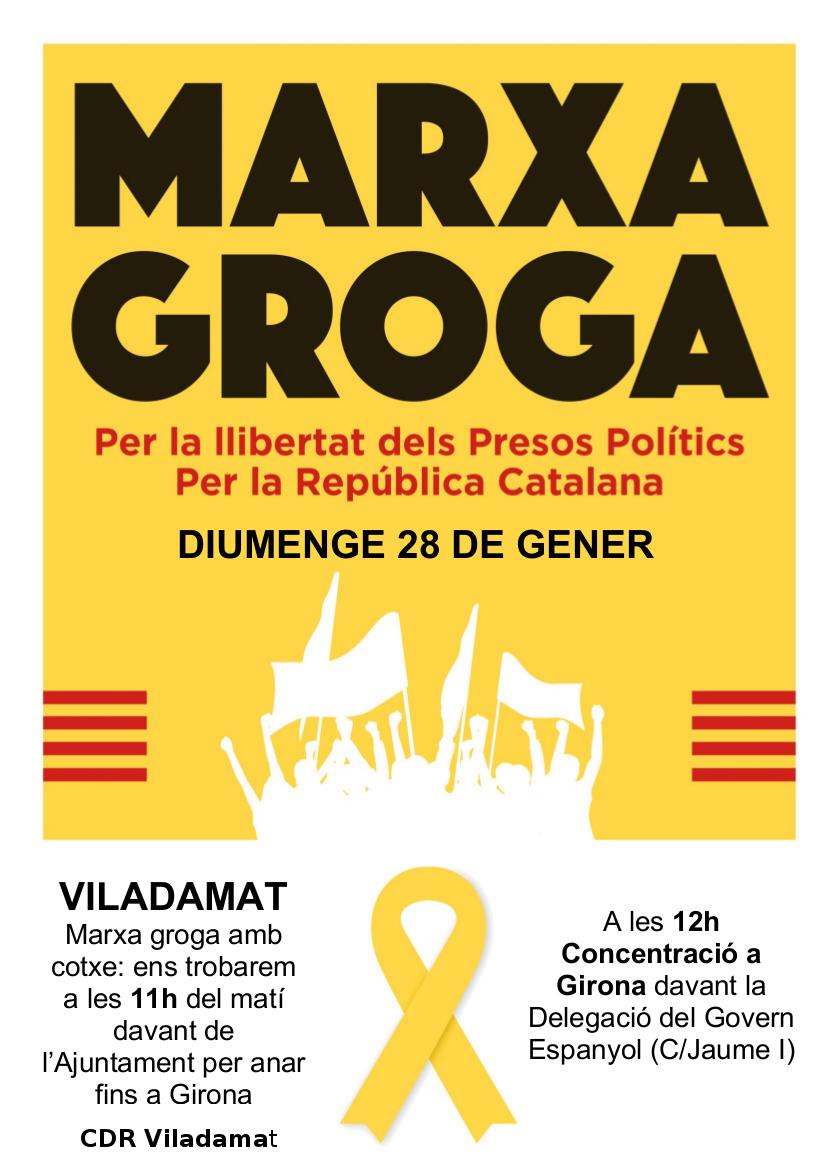 Marxa Groga Per La Llibertat Dels Presos Polítics i Per La República Catalana