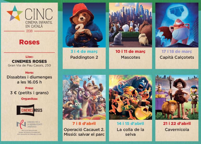El Cinema Infantil en Català (CINC) torna aquesta primavera a Roses