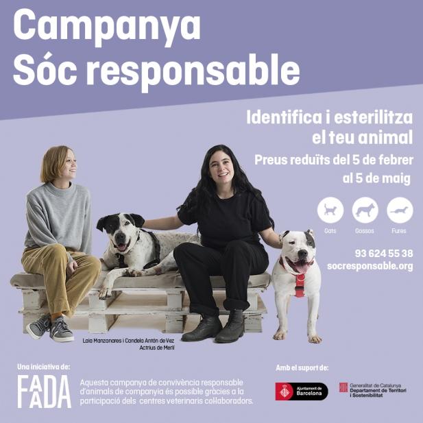 """L'Ajuntament de Figueres se suma un any més a la campanya """"Sóc responsable"""" d'identificació i esterilització d'animals domèstics"""