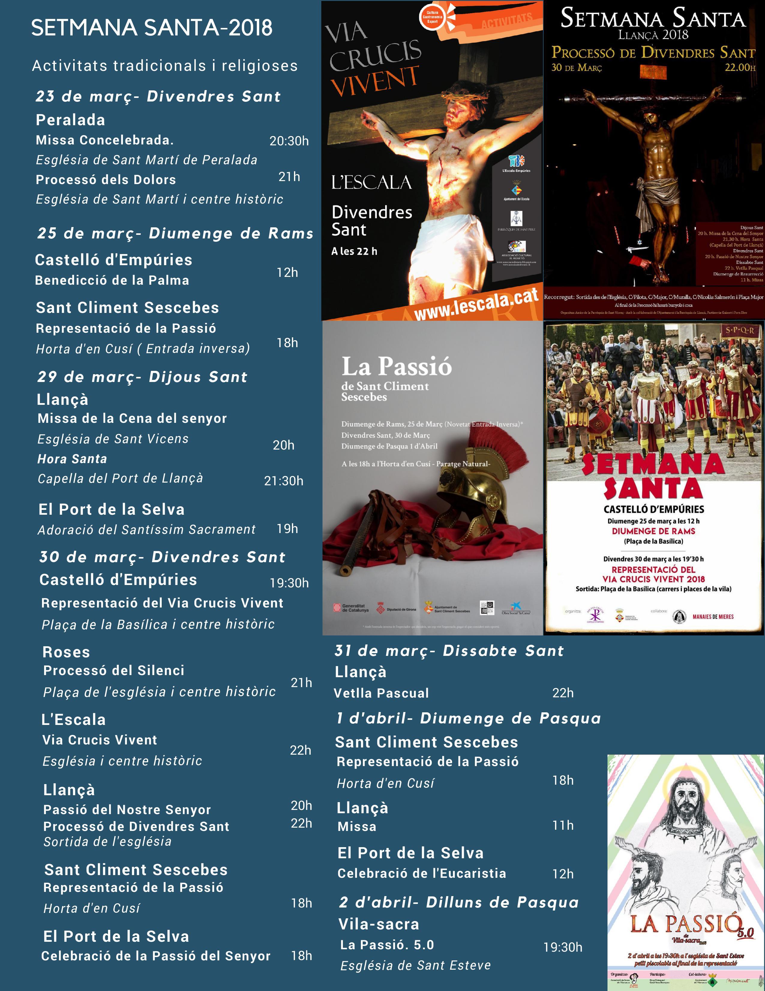Més de 20 activitats per Setmana Santa a l'Alt Empordà