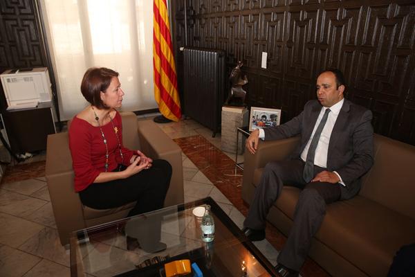 L'alcaldessa de Girona rep el nou cònsol del Marroc a Girona