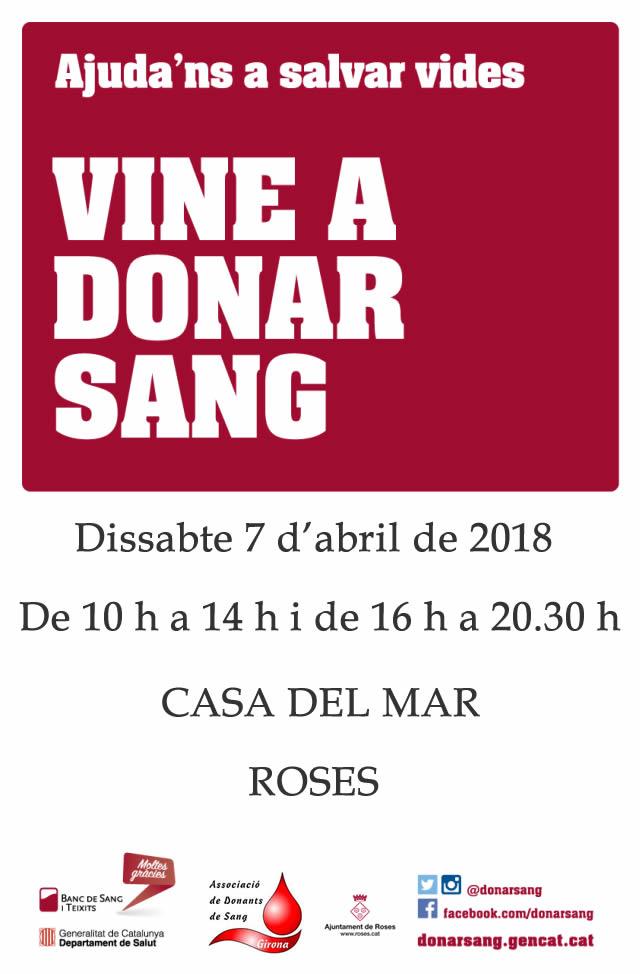 Nova jornada de donació de Sang a Roses