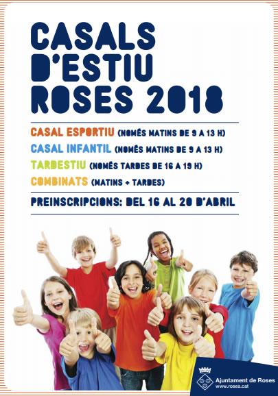 Dilluns 16 d'abril s'obre la preinscripció dels Casals d'Estiu de Roses, amb 1.100 places