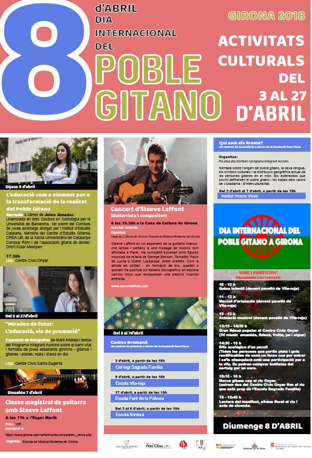 Girona commemorarà el Dia Internacional del Poble Gitano amb diverses activitats