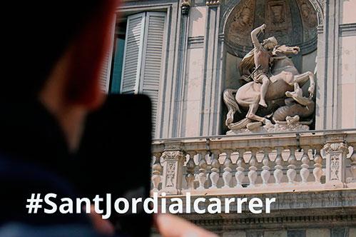 #SantJordialcarrer: celebrem i compartim Sant Jordi a les xarxes