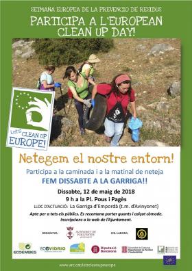 """L'Ajuntament d'Avinyonet de Puigventós i Gas mountain s'adhereixen a la campanya LET'S CLEAN UP EUROPE amb el projecte """"Fem dissabte a La Garriga d'Empordà"""""""