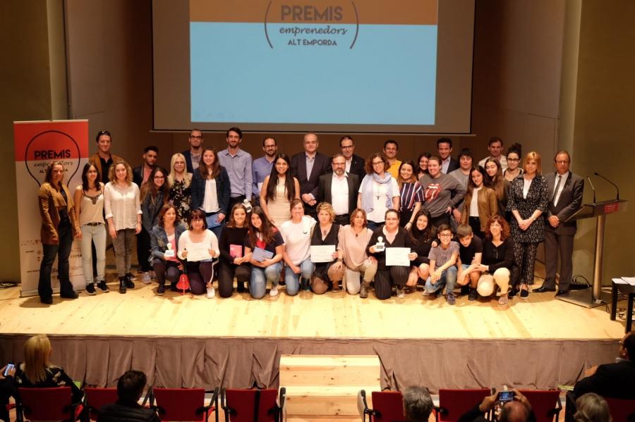 Marc Barceló, Adrià Giner, Can Tuies i estudiants dels Instituts Illa de Rodes i Cendrassos guardonats als Premis Emprenedors de l'Alt Empordà 2018