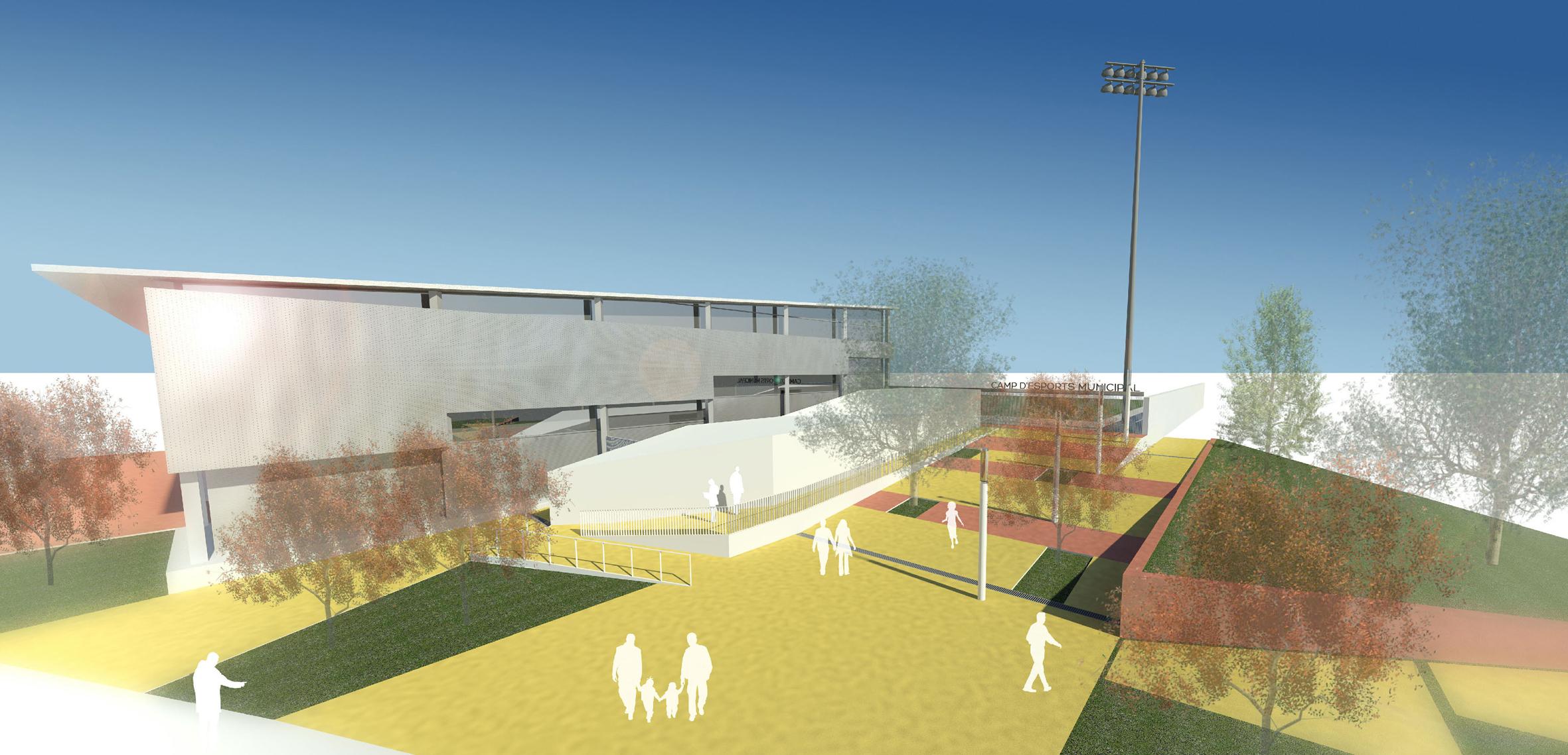 S'inicien les obres del nou edifici per millorar usos i accessos de la zona esportiva de Roses