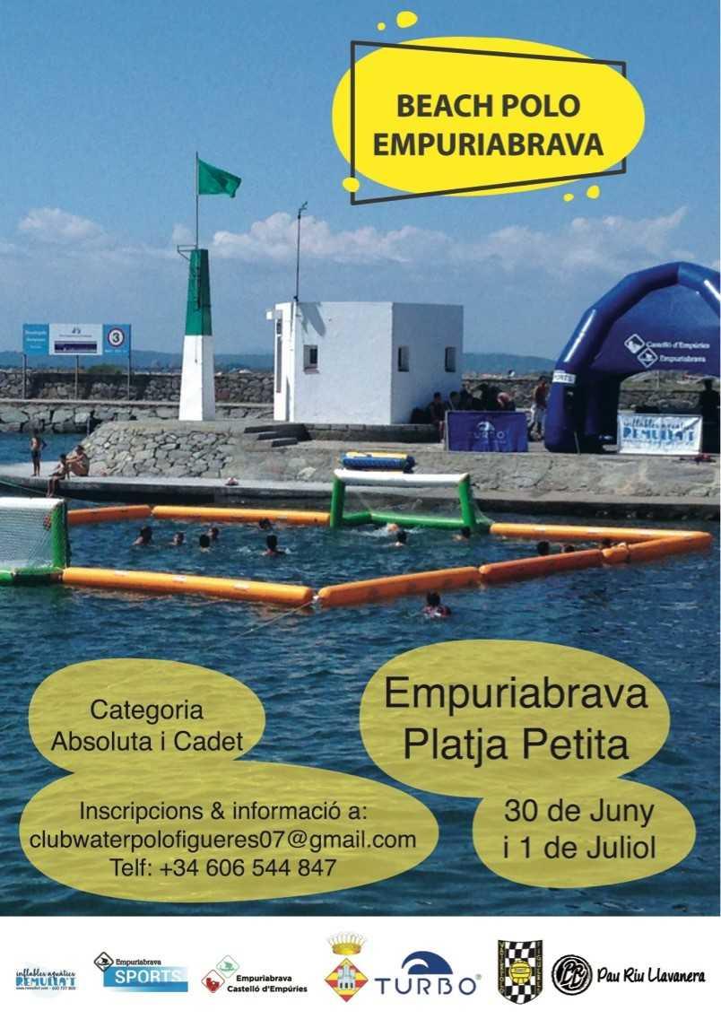 La platja petita acollirà aquest cap de setmana la segona edició del Beach Waterpolo Empuriabrava
