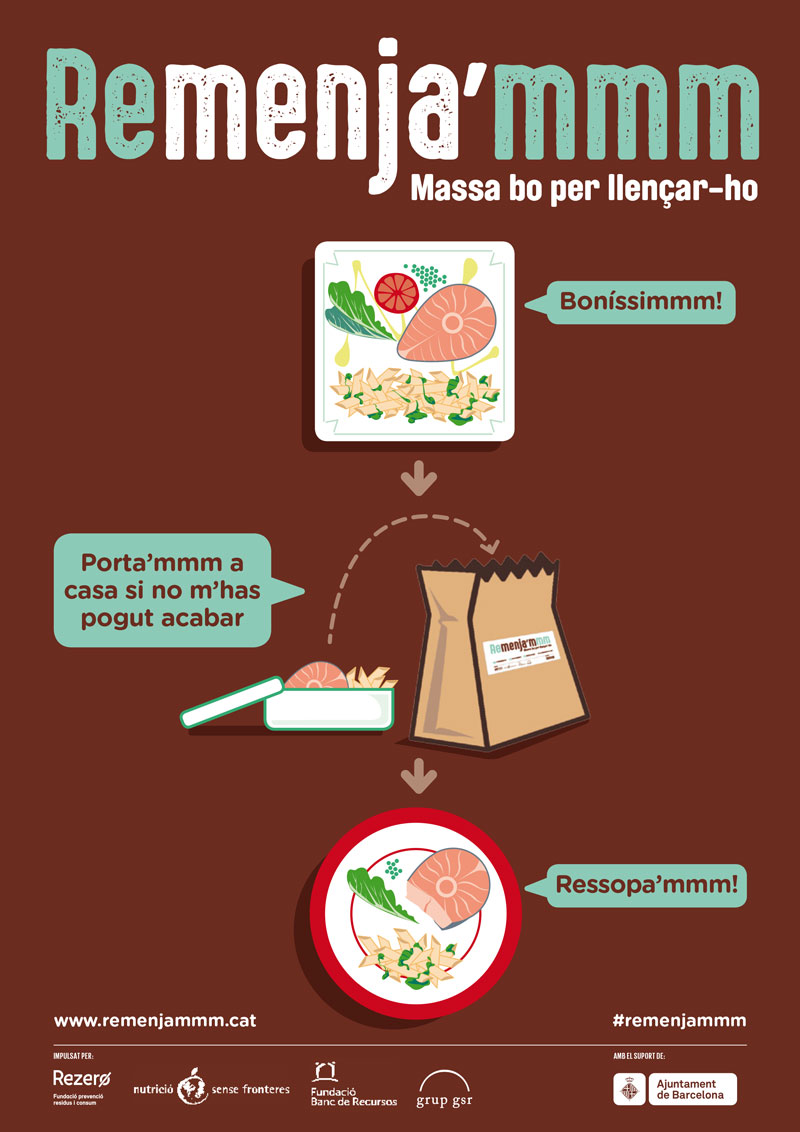 Campanya per reduir el malbaratament alimentari a restaurants