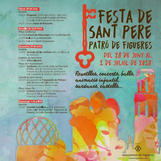 Figueres celebrarà la Festa de Sant Pere durant 4 dies