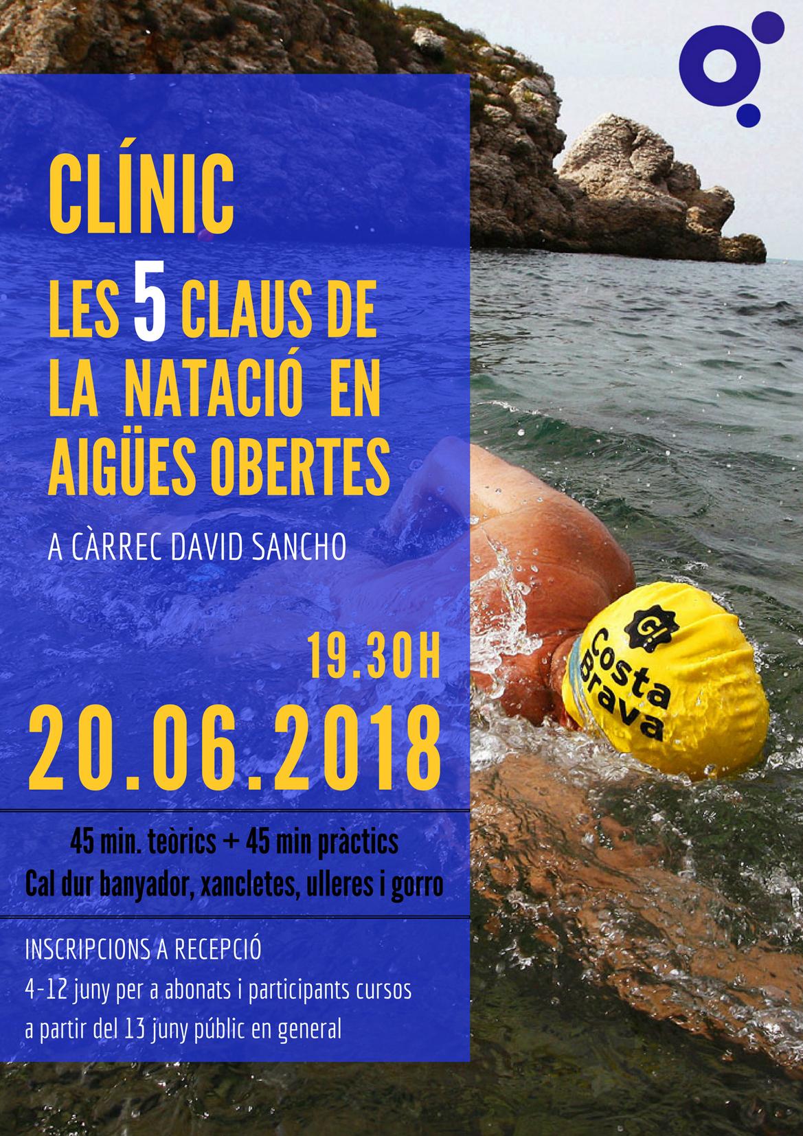 La Piscina Municipal de Roses ofereix el proper 20 de juny un clínic sobre natació en aigües obertes