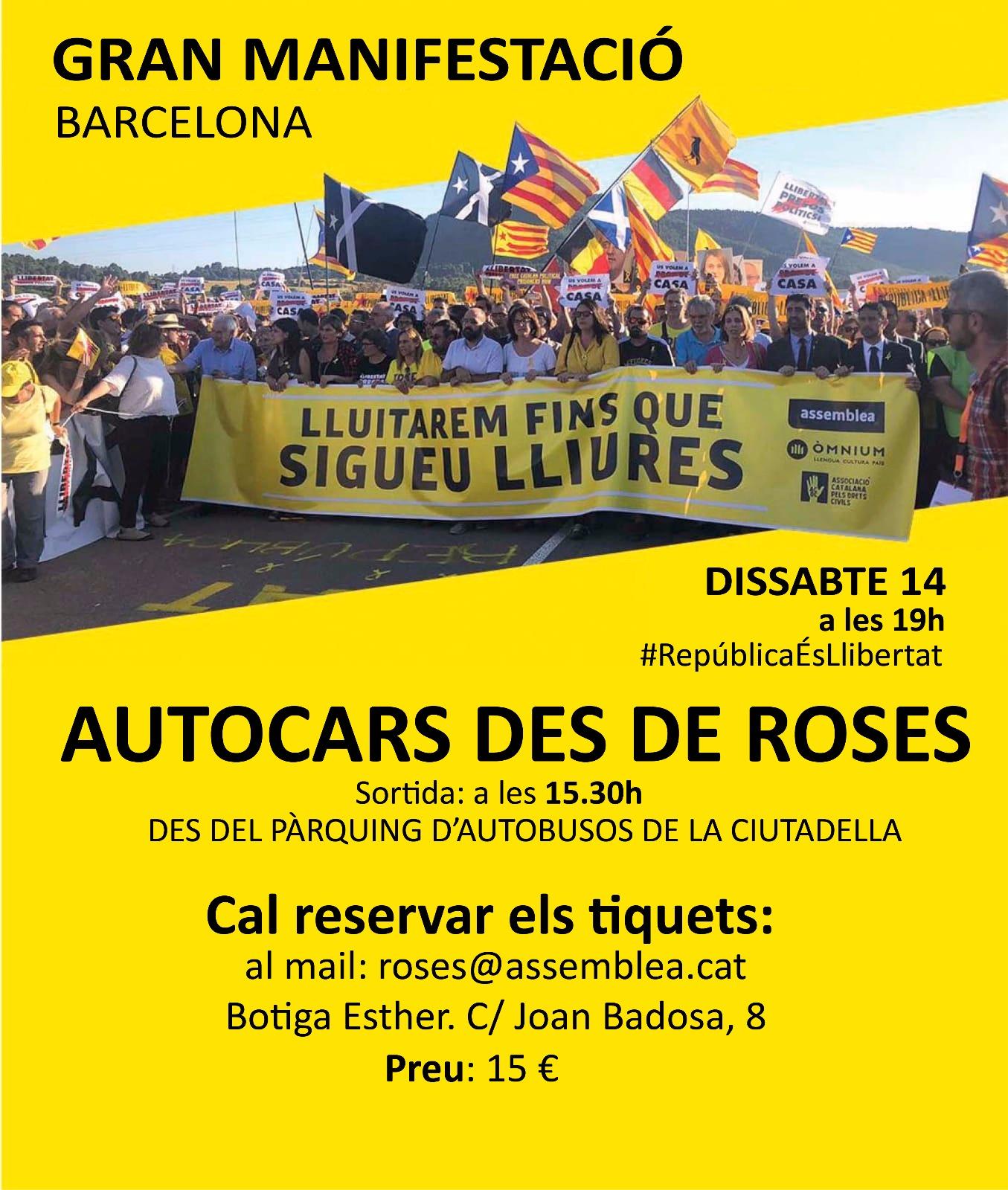 Nova Manifestació per reclamar la Llibertat dels Presos Polítics