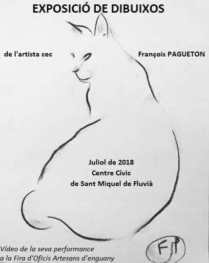 Exposició de dibuixos a Sant Miquel de Fluvià