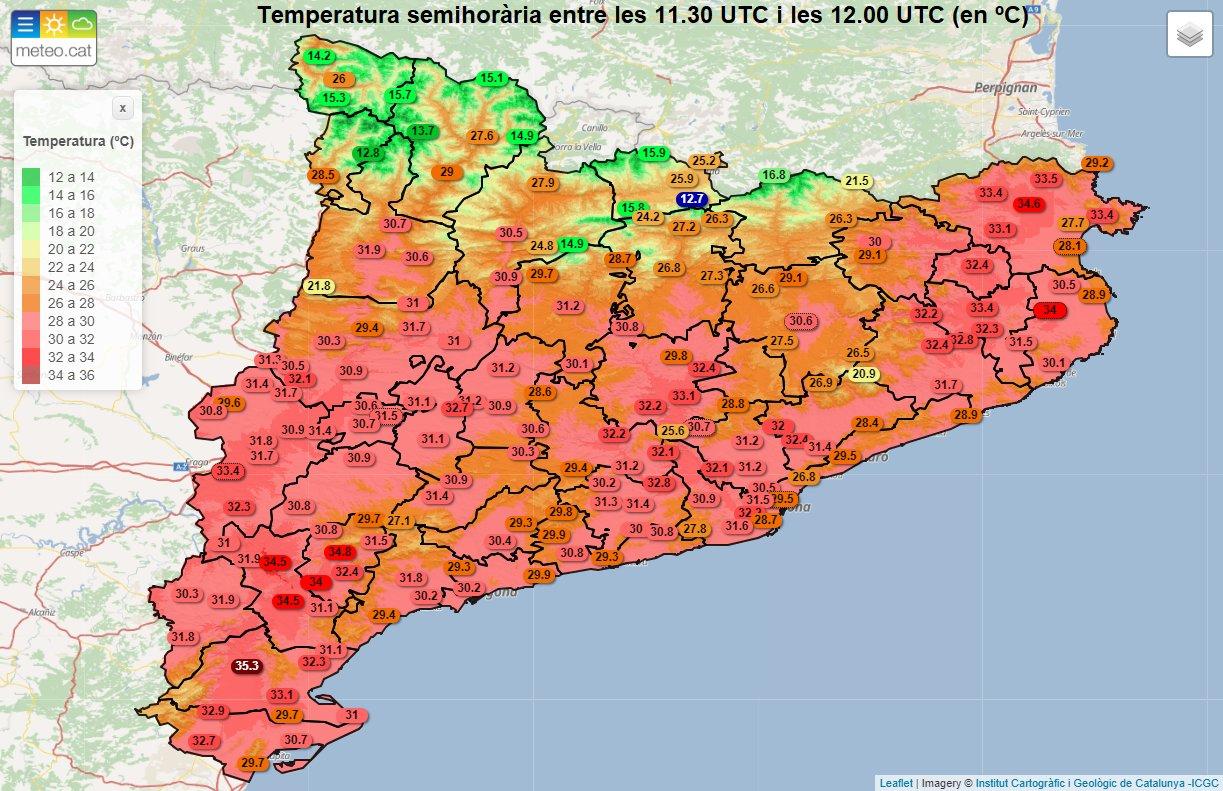 Alerta del Pla de Protecció Civil de Catalunya per onada de calor a Ponent i l'Alt Empordà