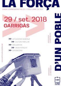 Garrigàs prepara una jornada commemorativa de l'1 d'Octubre