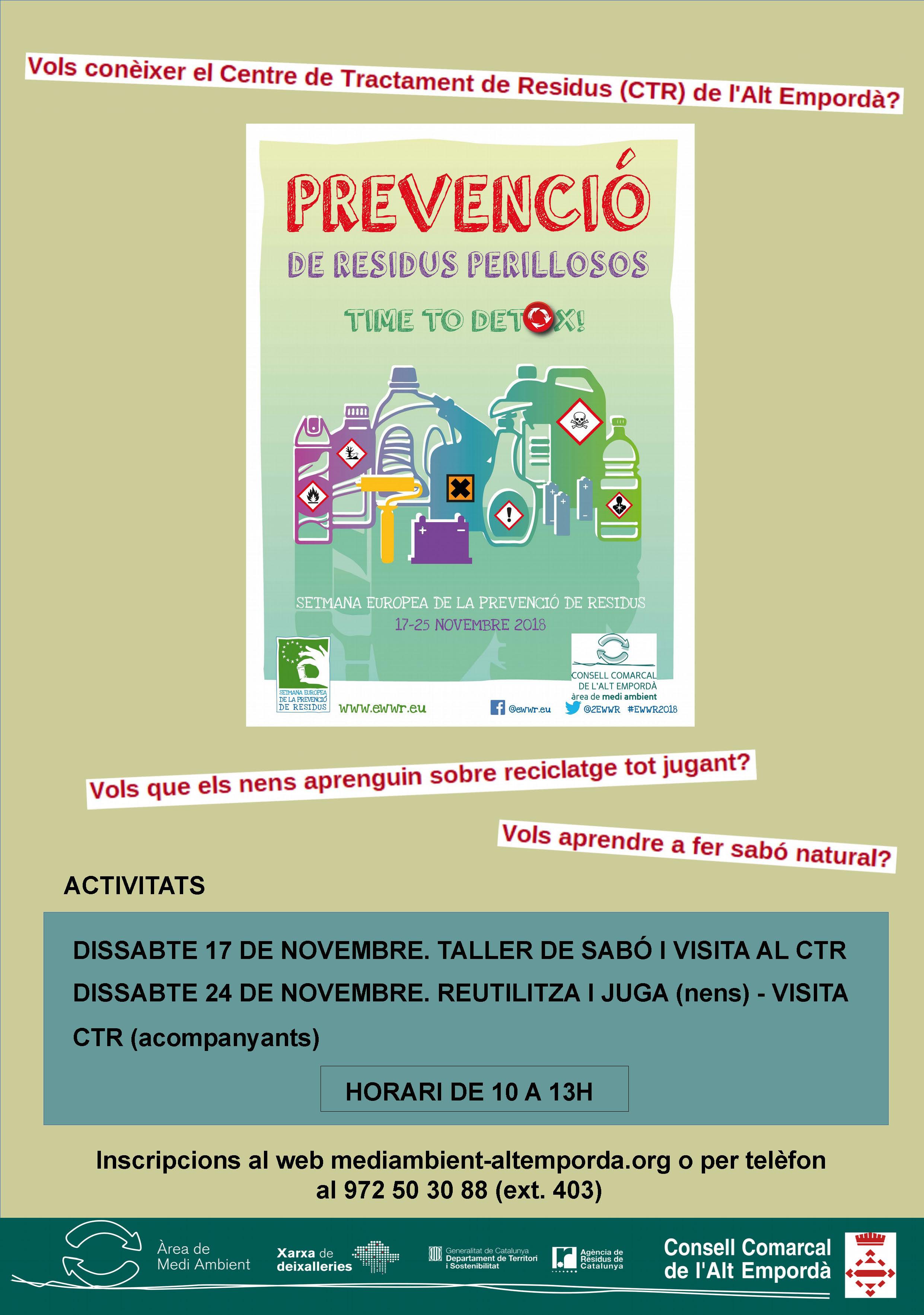 Setmana Europea de prevenció de residus a l'Alt Empordà