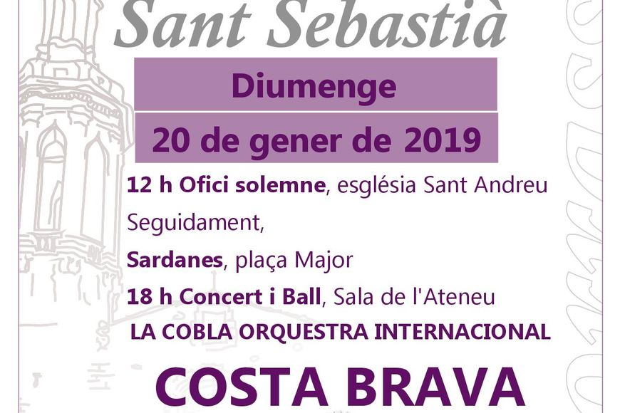 L'orquestra Costa Brava amenitzarà la festa de Sant Sebastià a Borrassà
