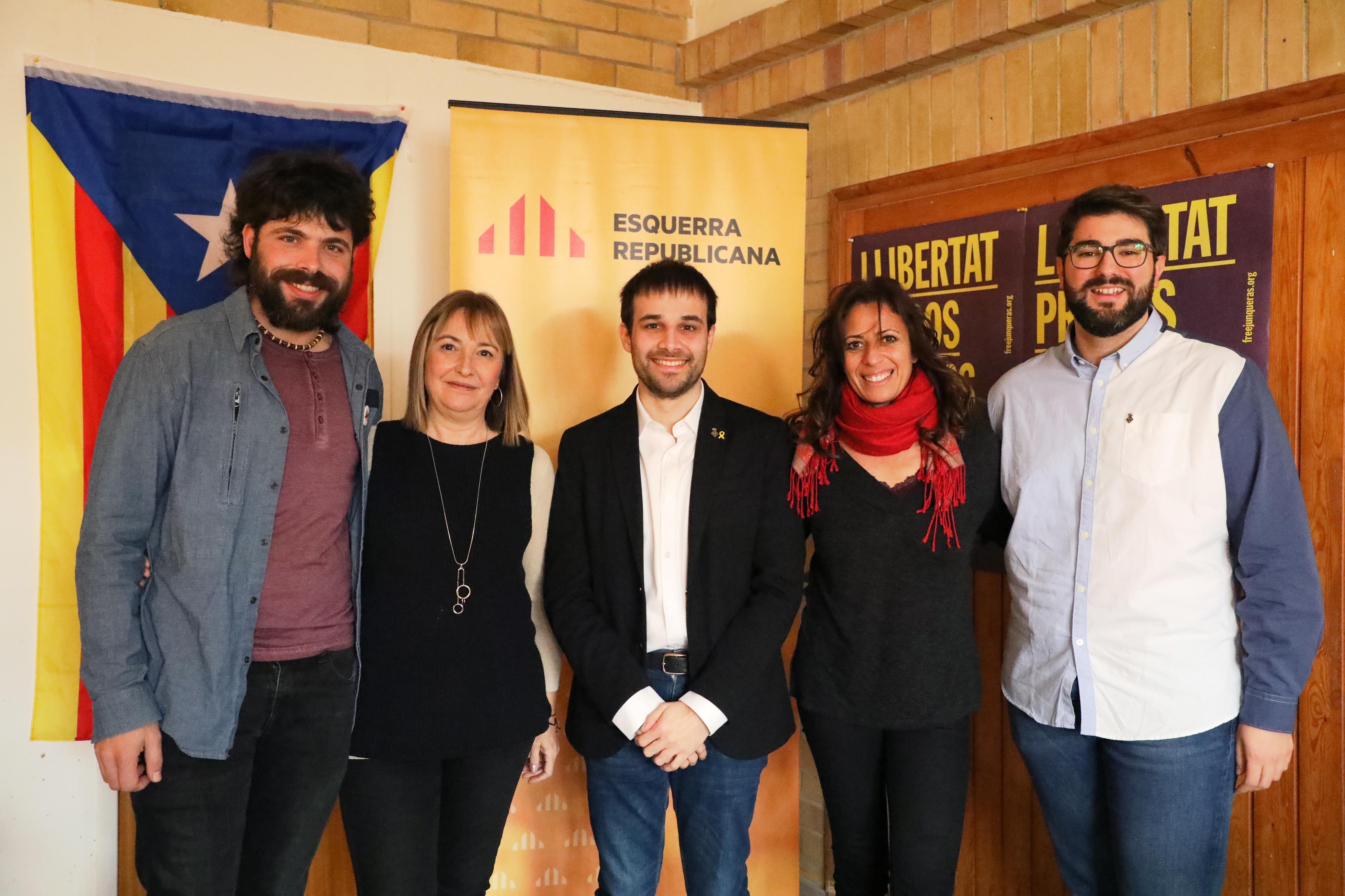 Èric Ibáñez, Vero Medina i Gerard Teixidó números 3, 4 i 5 de la candidatura d'ERC-Ara Roses