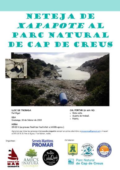 Es necessiten voluntaris per a netejar Xapapote al Parc Natural de Cap de Creus