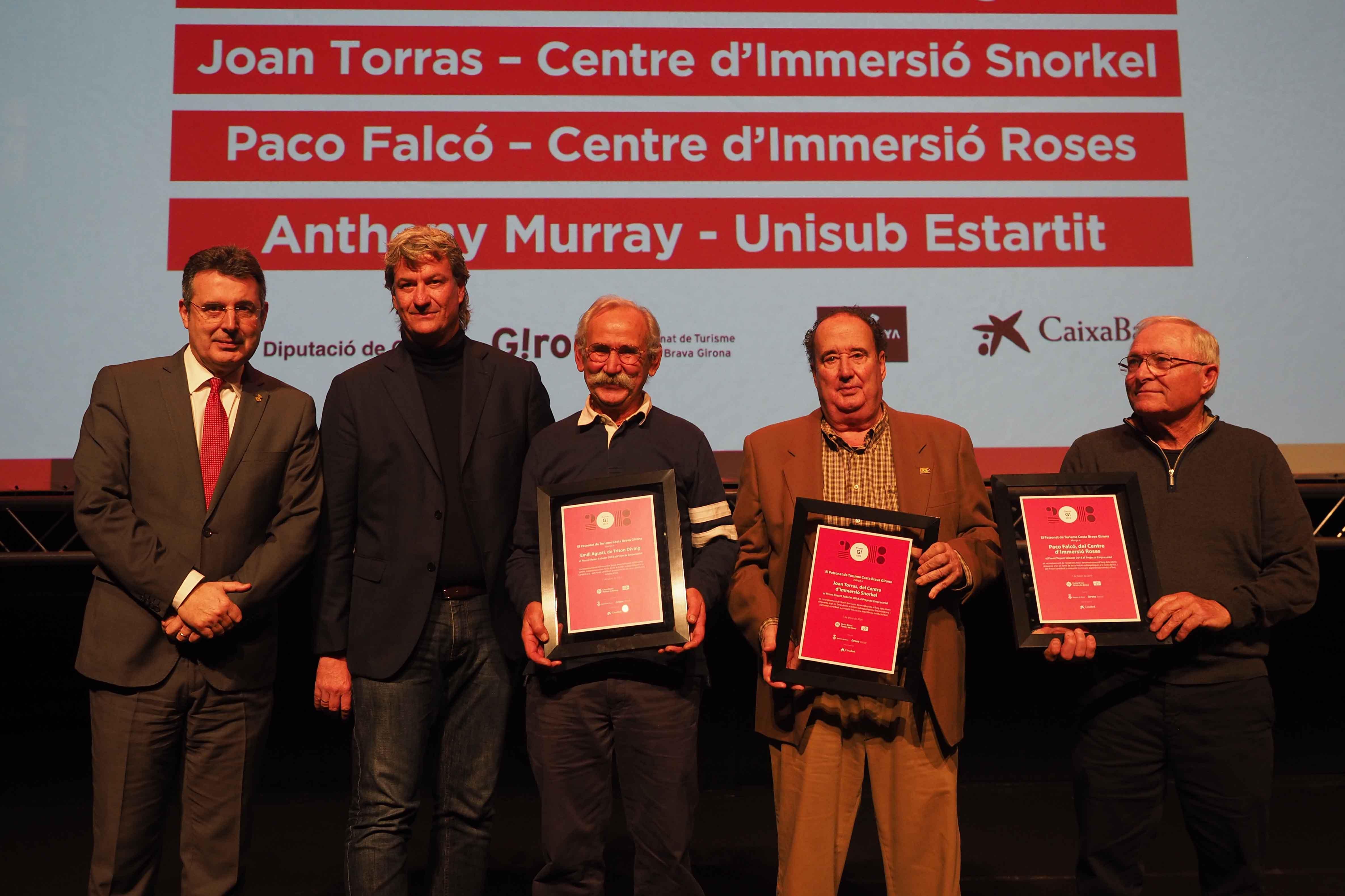 Els premis G! de Turisme guardonen un projecte empresarial del Centre d'Immersió Roses