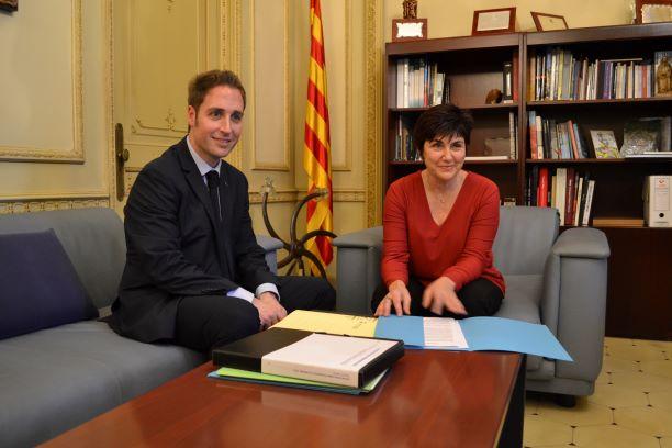 La presidenta del Consell Comarcal es reuneix amb el nou alcalde de Figueres per analitzar temes d'interès conjunt