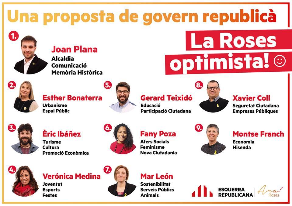 ERC Roses fa públic els noms de l'equip amb el qual es presentarà a les pròximes eleccions municipals