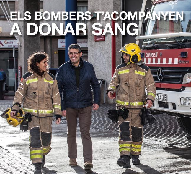 """Diumenge 17 de març, arriba a Roses la campanya """"Els Bombers t'acompanyen a donar sang"""""""