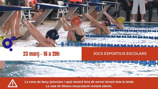 La Piscina de Roses acollirà el campionat escolar de natació aquest dissabte