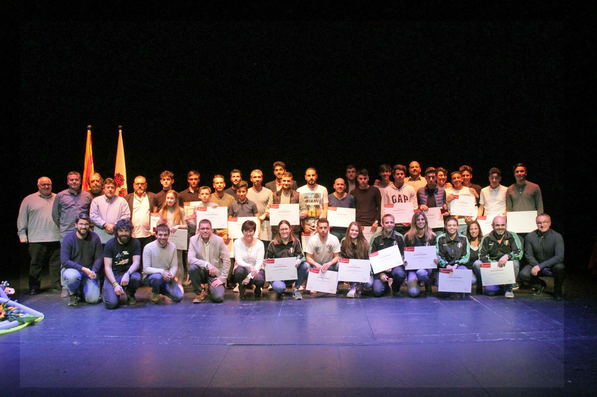 5 esportistes individuals i 4 equips de Roses guardonats amb els diplomes al Reconeixement Esportiu 2018