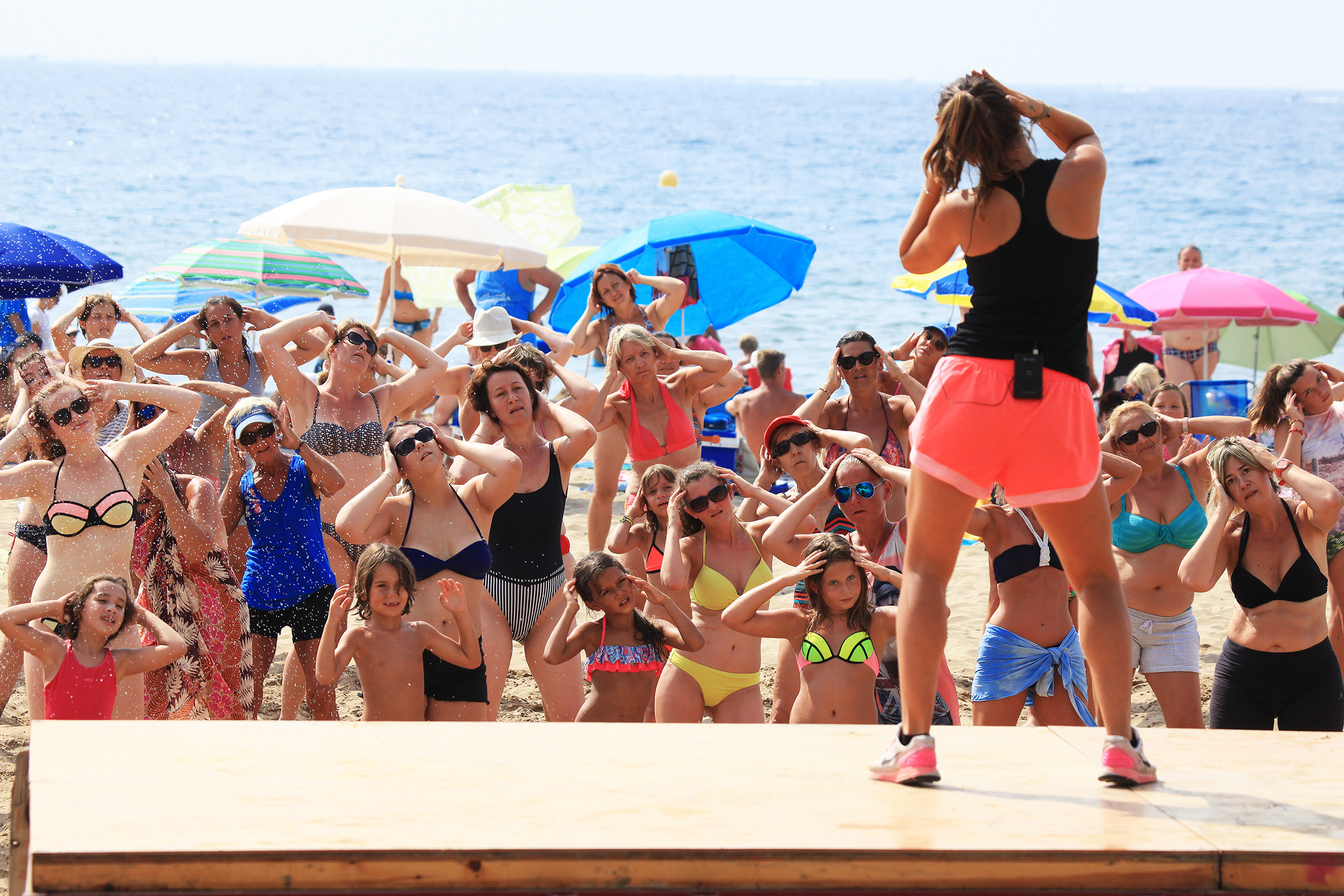 L'aeròbic platja arriba l'1 de juliol a Roses