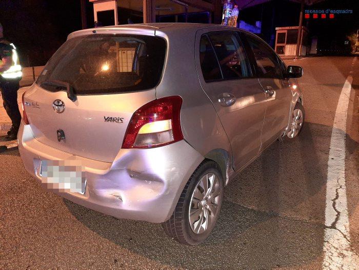 Els Mossos d'Esquadra detenen un conductor ebri després de causar dos accidents a La Jonquera