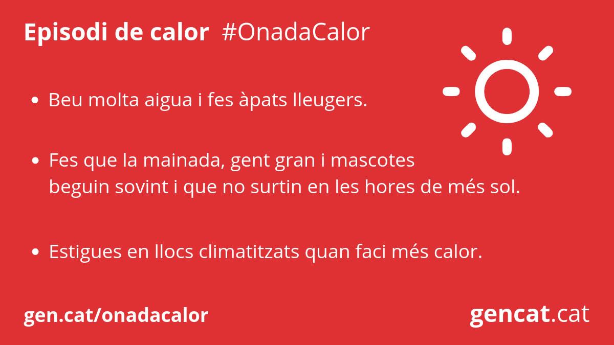 Nova onada de calor a tot Catalunya