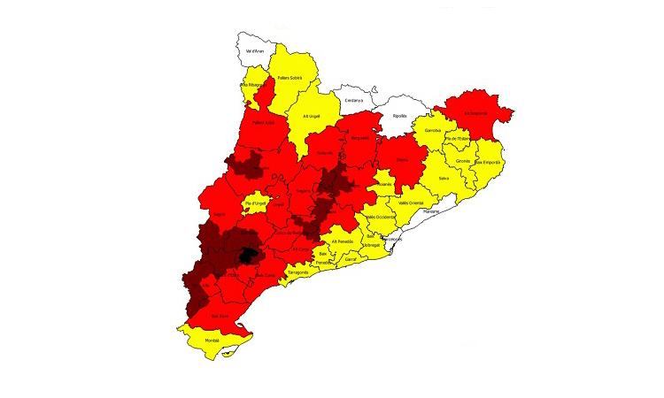 Activat el Nivell 3 del Pla Alfa a 13 comarques Catalanes