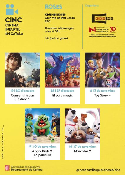 El Cinema Infantil en Català (CINC) torna aquest mes d'octubre als Cinemes Roses