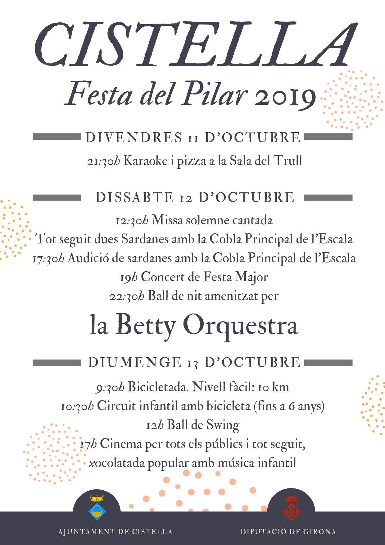 Festa del Pilar de Cistella 2019