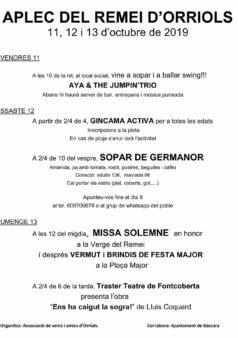 Festa i Aplec del Remei a Orriols (Bàscara)