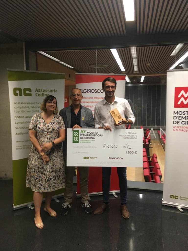 El Rosinc Adrià Giner guanyador del 1r premi emprenedors de Girona