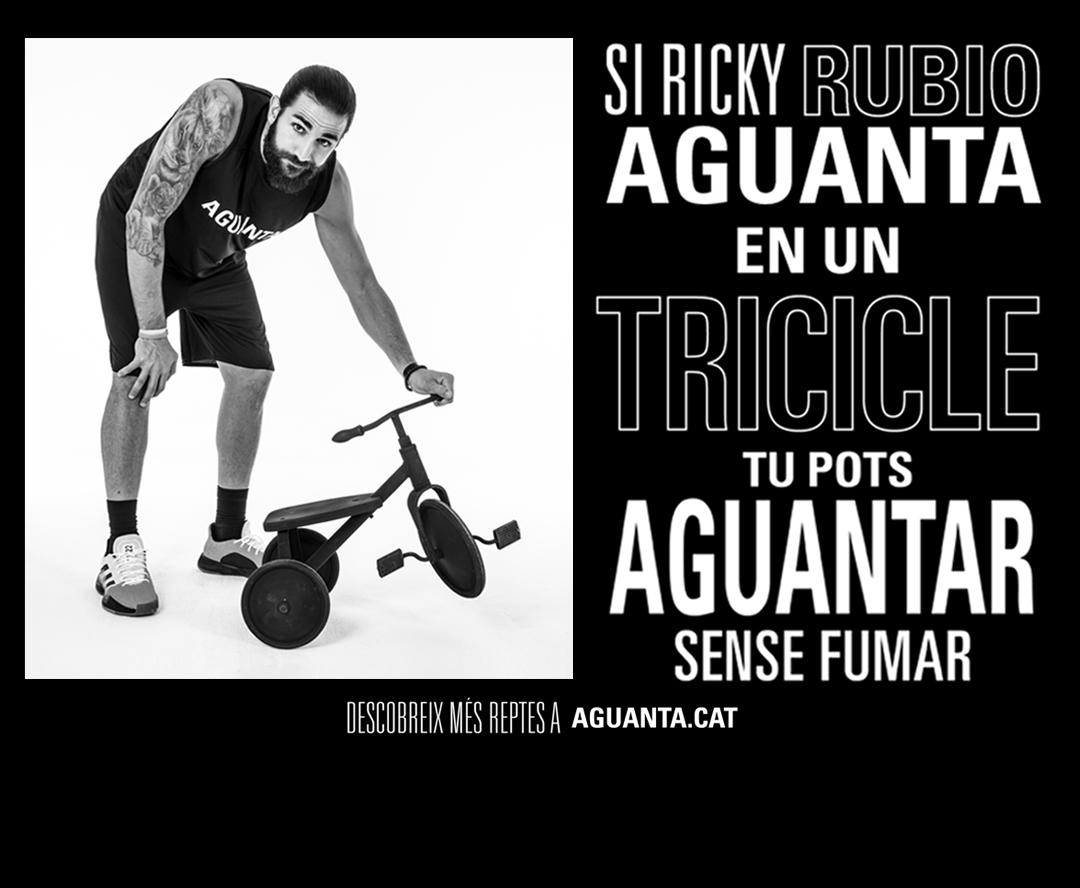 Si Ricky Rubio aguanta en un tricicle, tu pots aguantar sense fumar