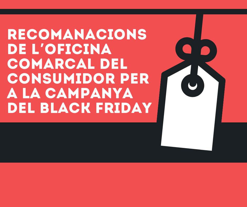 Recomanacions de l'oficina comarcal del consumidor per a la campanya del Black Friday